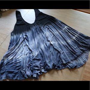 Free People stretchy tie dye tunic/ dress. Size M